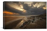 Stormy Saunton Sands, Canvas Print