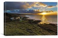 Woolacombe Bay sunset., Canvas Print