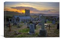 Instow church, North Devon, Canvas Print