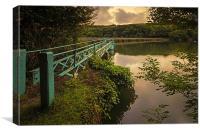 Slade Reservoir, Nr Ilfracombe., Canvas Print