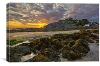 Lee Bay sunrise , Canvas Print