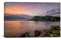Old pier, Ilfracombe., Canvas Print