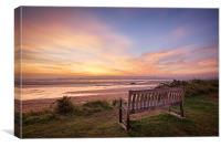 Sunrise on the Taw Estuary, Canvas Print