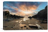 Barricane Beach sunset, Canvas Print