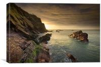 North Devon Coastline at Ilfracombe., Canvas Print