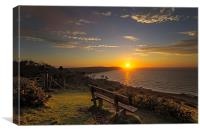 Baggy Point sunset, Canvas Print