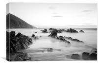 Putsborough Sands long exposure, Canvas Print
