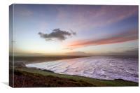 Saunton Sands last sunrise of the year, Canvas Print