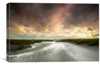 The River Taw at Crow Point , Canvas Print