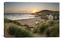 Croyde Bay North Devon., Canvas Print