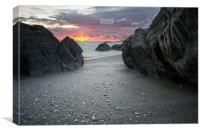 Sandy Cove North Devon, Canvas Print
