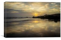 Combesgate Beach, Woolacombe Bay., Canvas Print