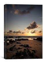 Down End Croyde Bay sunset, Canvas Print