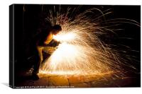 Self Portrait With Angle Grinder