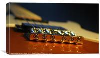 Guitar Bridge Close Up, Canvas Print