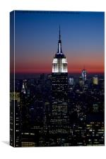 Empire State at Sunset, Canvas Print