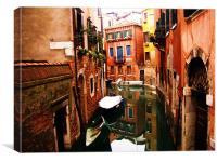 Venetian Backwater, Canvas Print