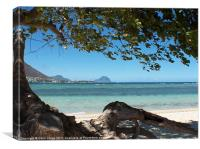 Maurtius beach, Canvas Print