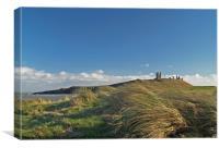 Breezy Dunstanburgh, Canvas Print