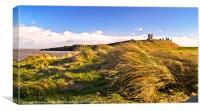 Breezy Dunstanburgh 2, Canvas Print
