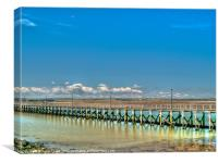 Amble pier, Canvas Print