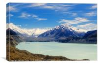 Tasman Glacier and lake, Canvas Print