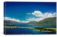 Lake Wakatipu and beyond, Canvas Print