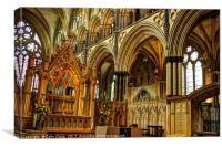 Gothic arches, Canvas Print