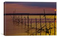 Sunset Over Old Nets, Canvas Print
