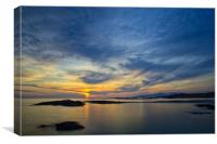 Sanna Bay Sunset, Canvas Print