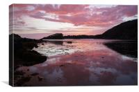 Sunset Near Inverkirkaig, Canvas Print