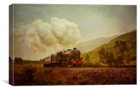 The Jacobite Steam Train, Canvas Print