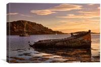 Sunken Gold on Loch Craignish, Canvas Print