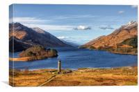 Glenfinnan Memorial and Loch Shiel, Canvas Print