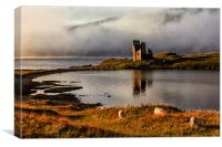Ardvreck Castle Highland Scotland, Canvas Print