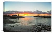 Portpatrick Winter Sunset, Canvas Print