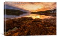 Sunset at Loch Kirkaig, Canvas Print