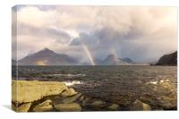 Elgol Rainbows Isle of Skye, Canvas Print