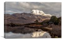Slioch and Loch Maree, Canvas Print