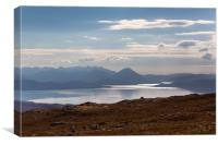 The Isle of Skye From The Applecross Pass, Canvas Print