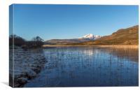 Blaven Across Loch Cill Chriosd, Canvas Print