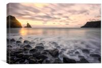 Talisker Bay Boulders at Sunset, Canvas Print