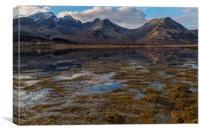 Blaven and Clach Glas across Loch Slapin, Canvas Print