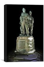 Commando Memorial at Night, Canvas Print