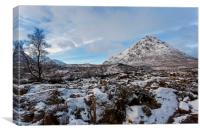 Buachaille Etive Mor in Winter, Canvas Print