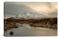 Sgùrr nan Gillean and The River Sligachan Skye, Canvas Print