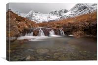 Fairy Pools, Isle of Skye in Winter, Canvas Print