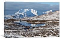 Ben More Coigach and Clar Loch Mor, Canvas Print