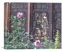 Church Yard Floral, Canvas Print