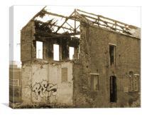 Burnt Build, Canvas Print